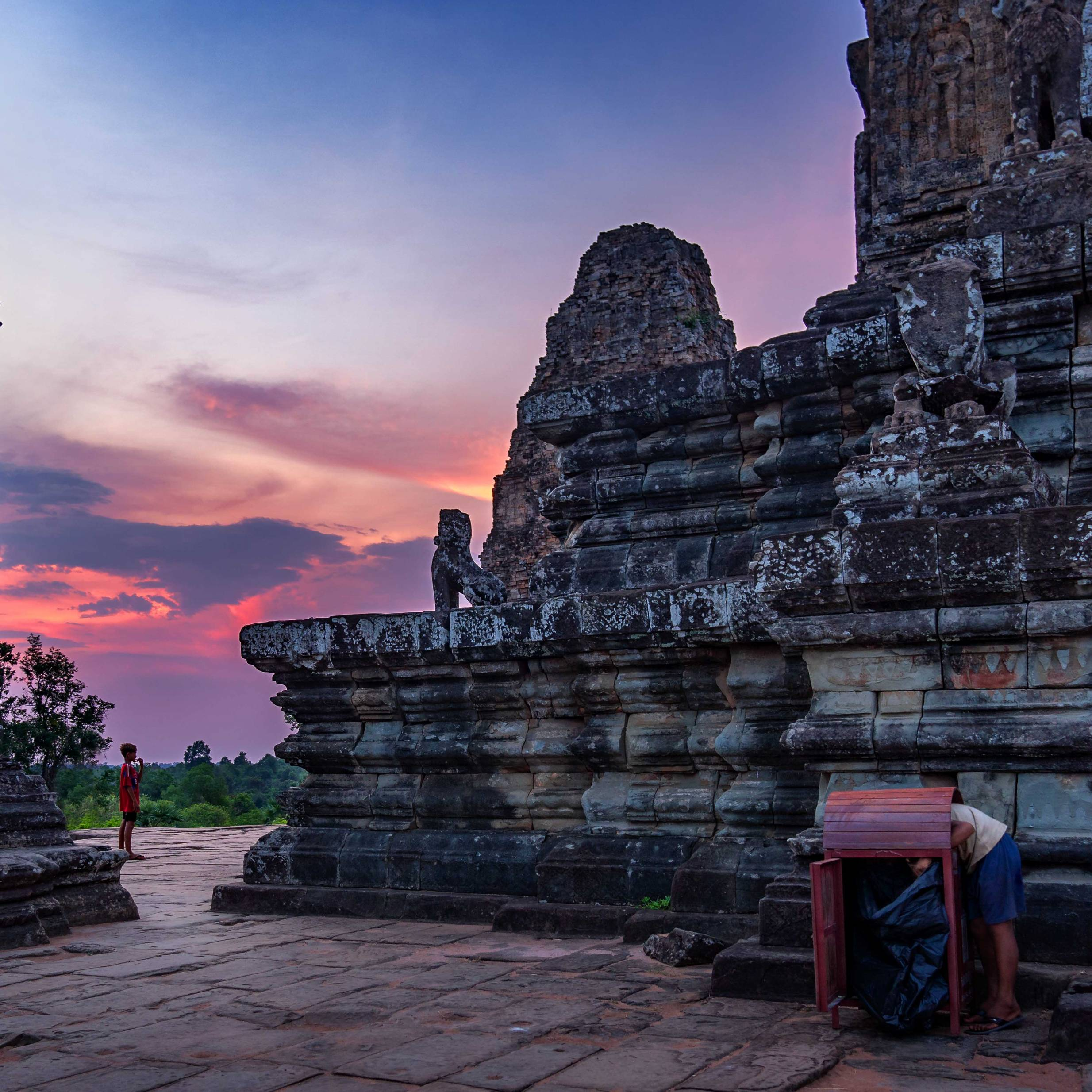 SUNSET AT EASTERN MEBON TEMPLE