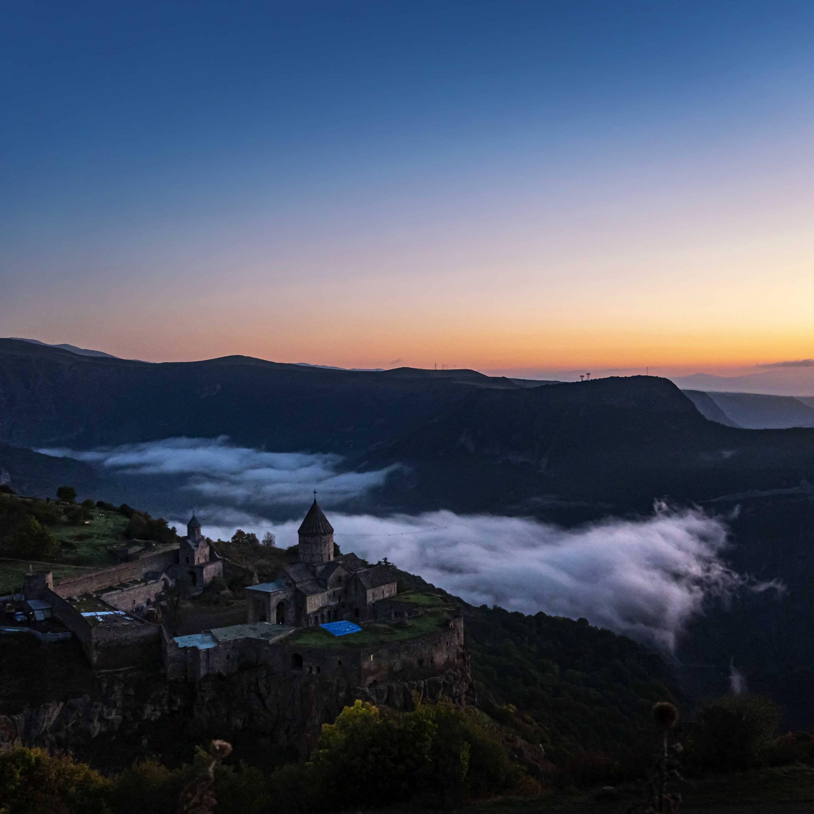 Tatev Monastery at sunrise