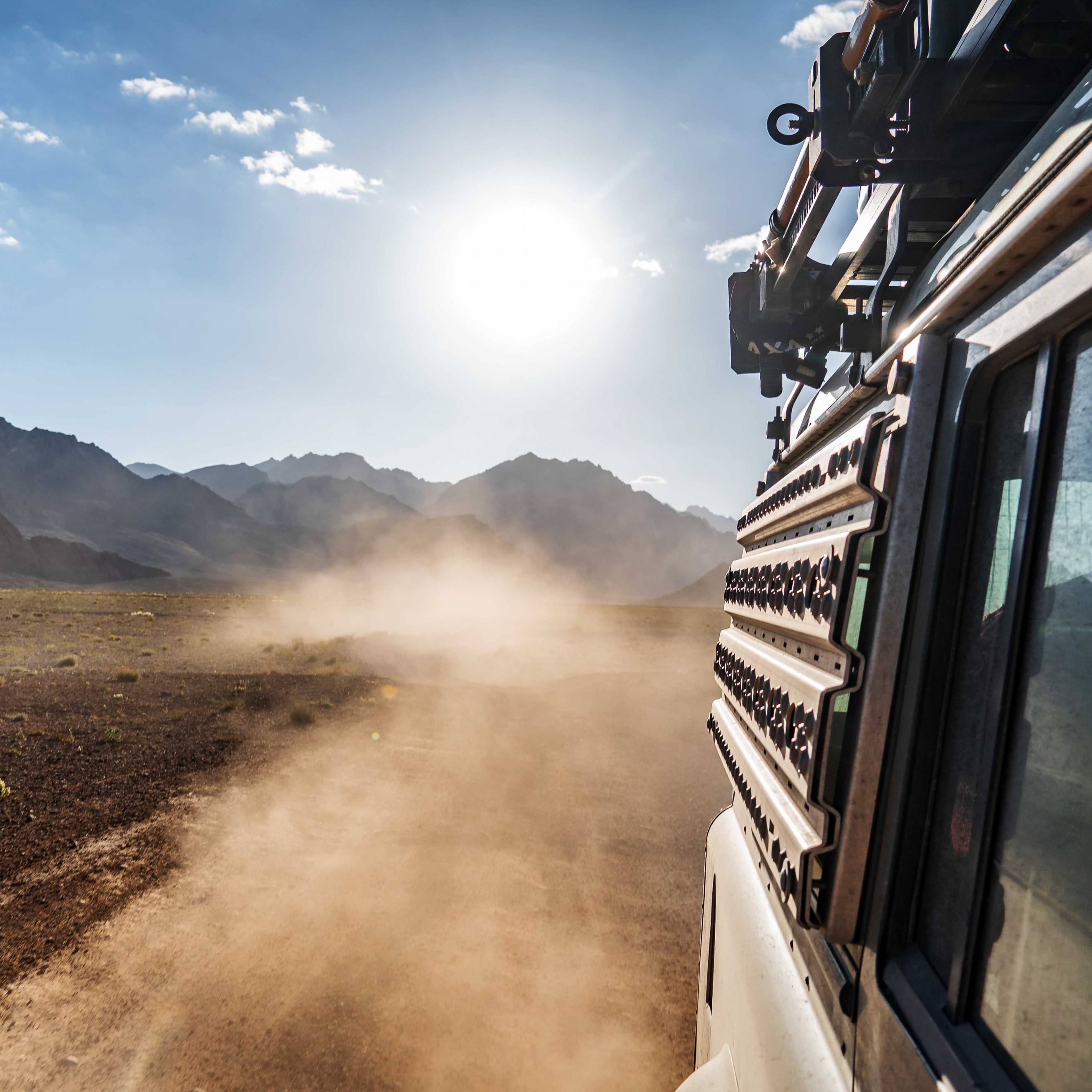 Dusty roads on Pamir Highway