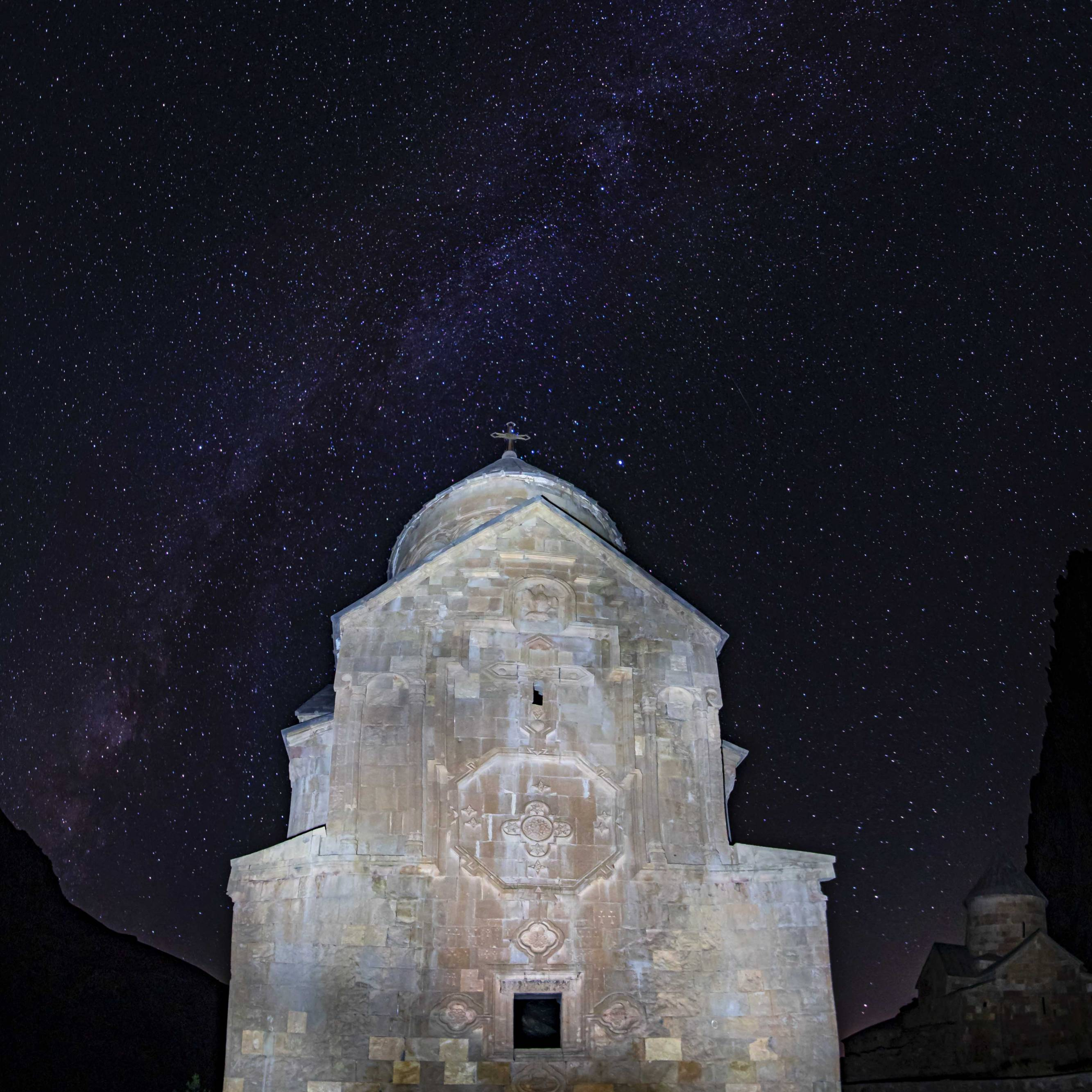 Nightsky over Surb Astvatsatsin and Surb Karapet Church