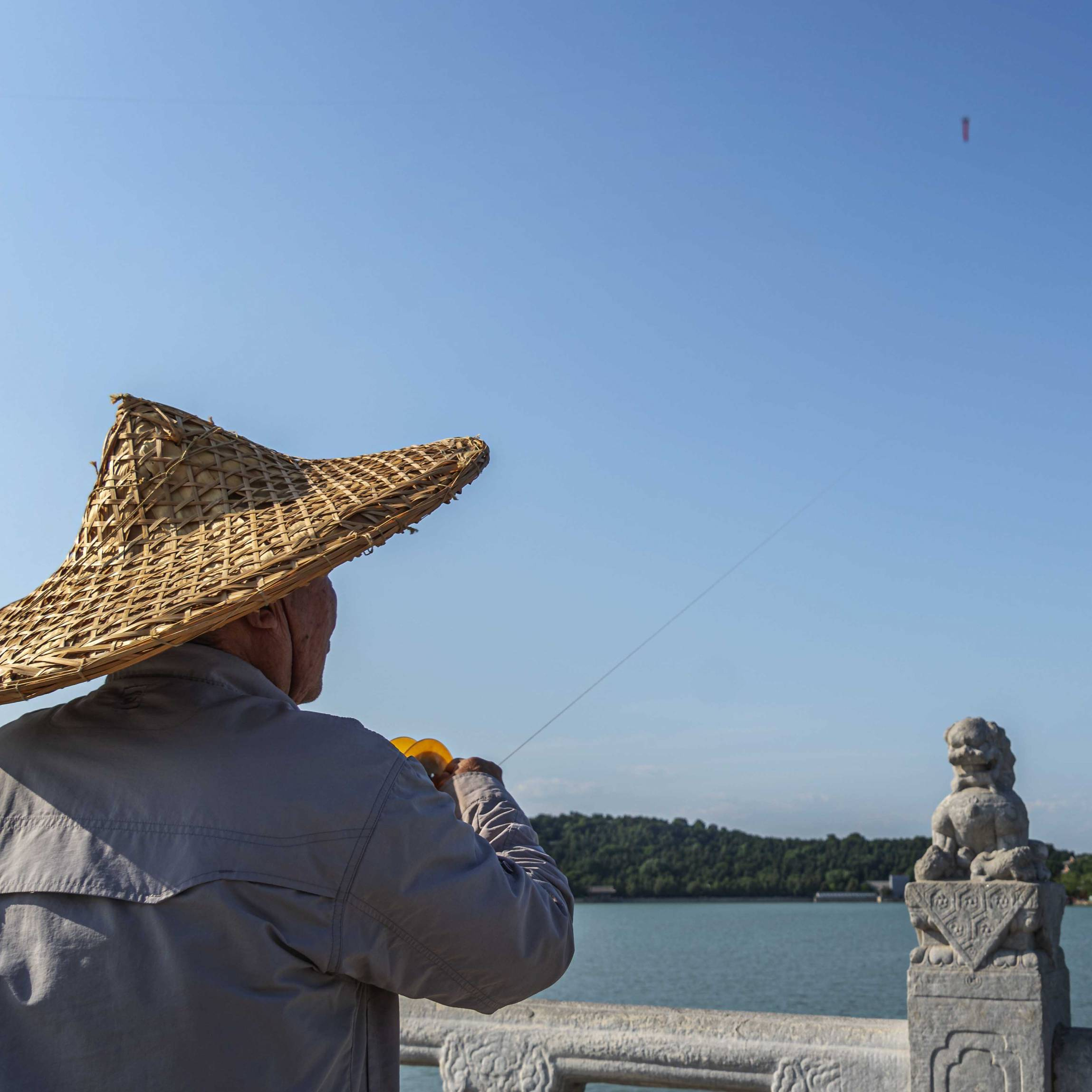 Kite flying at the summer palace in Beijing