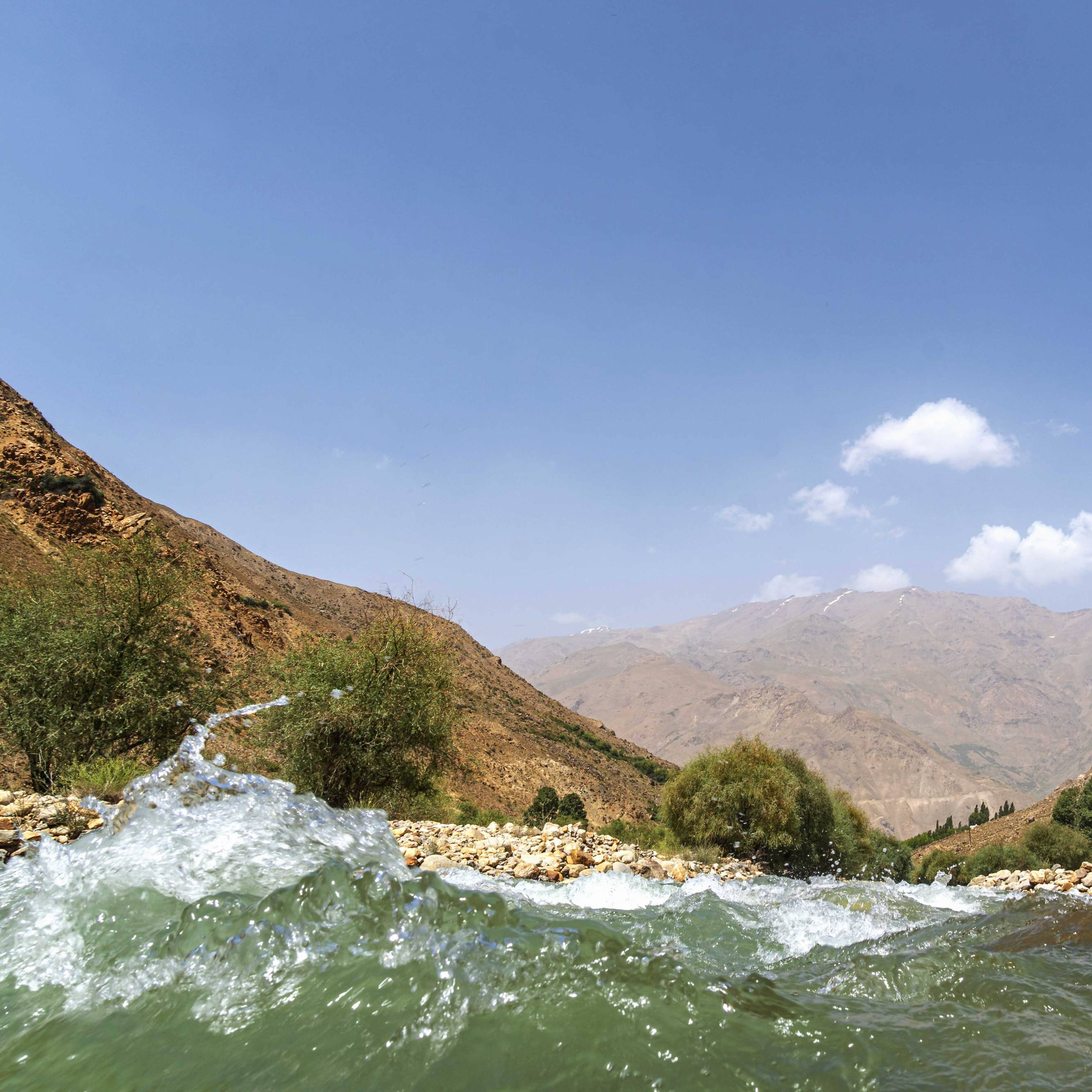River with view on Afghanistan