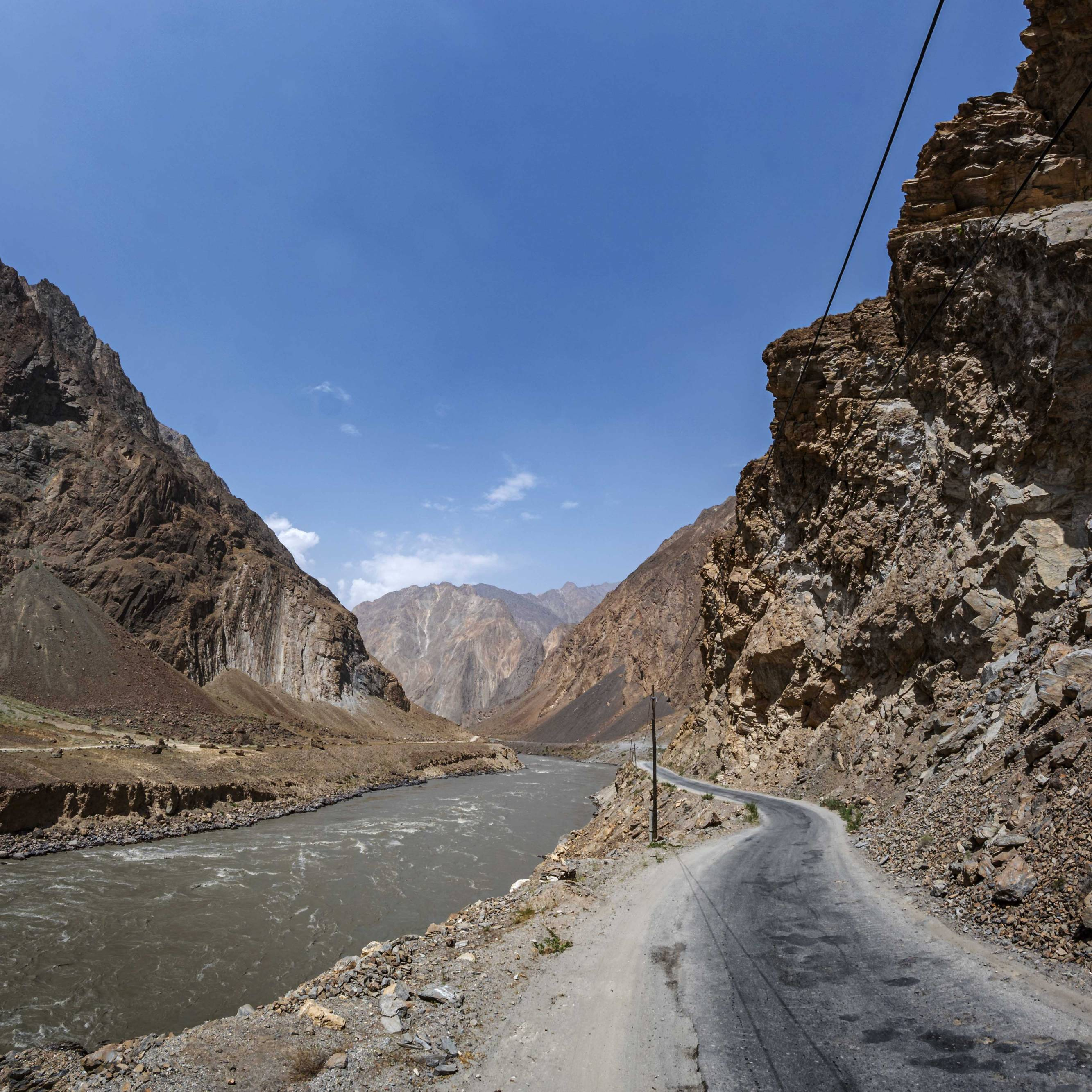 Pamir Highway - beware of oncoming Trucks