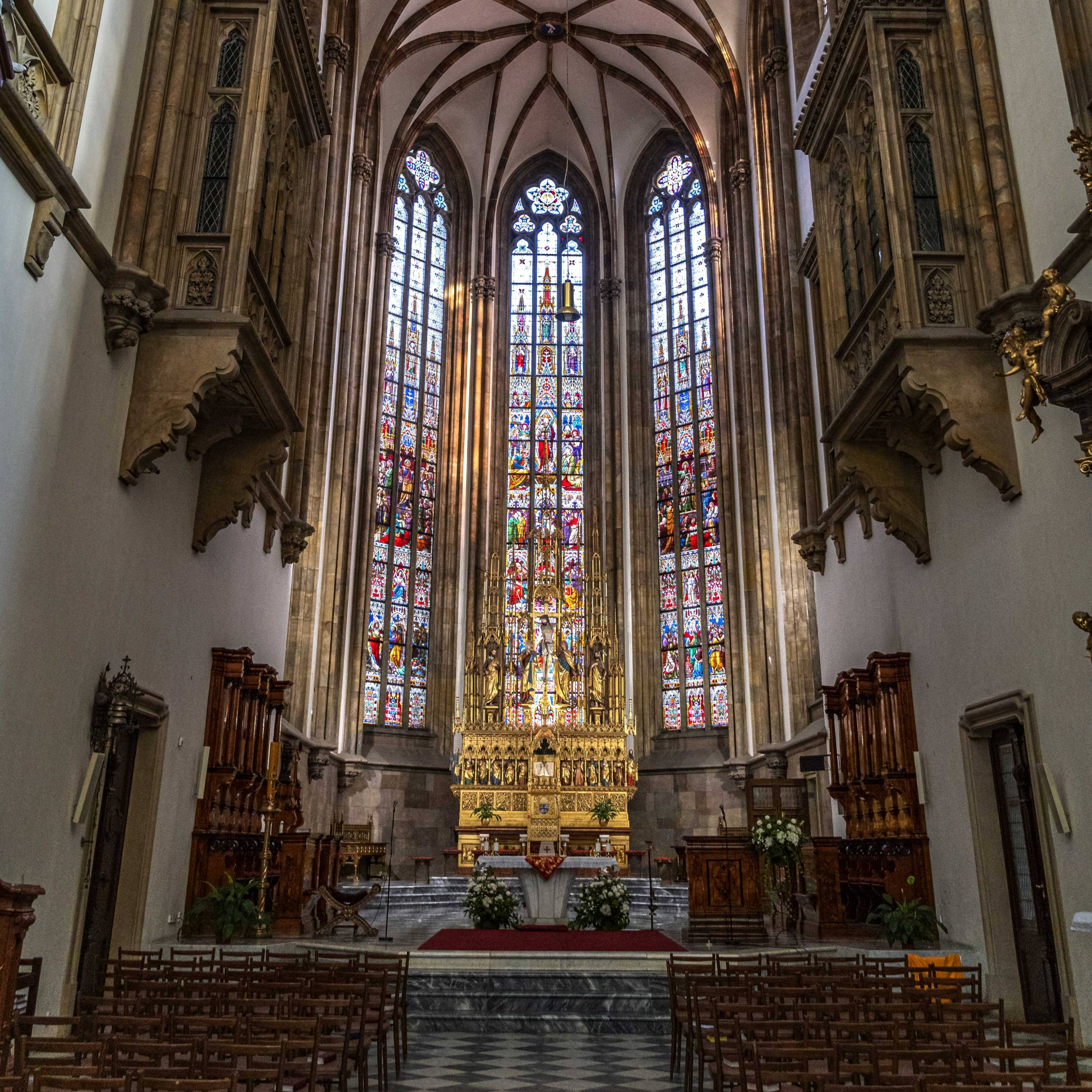 Inside of the St. Peter und Paul Cathedral in Brno, Czech Republic