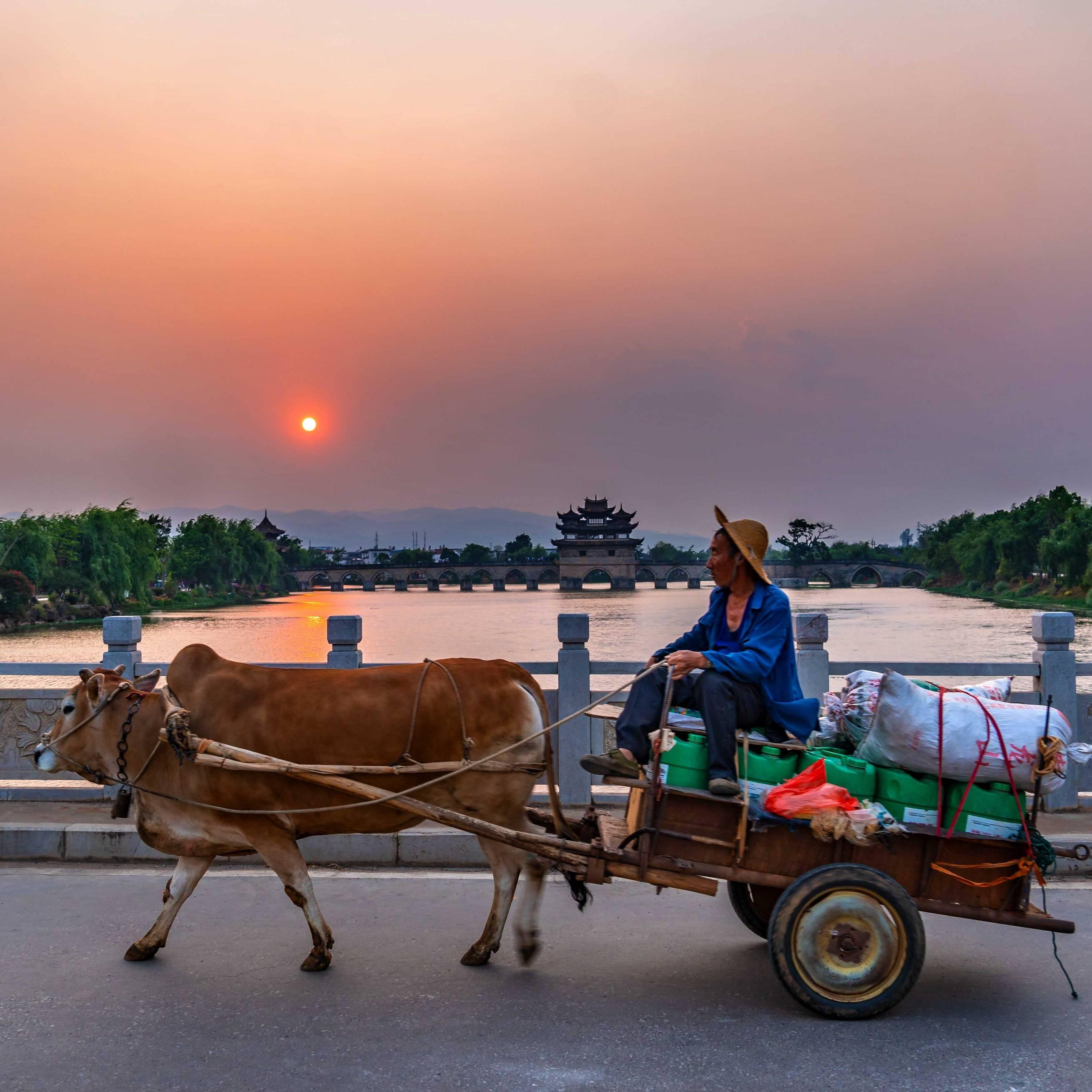 Double Dragon Bridge, , Province Yunnan
