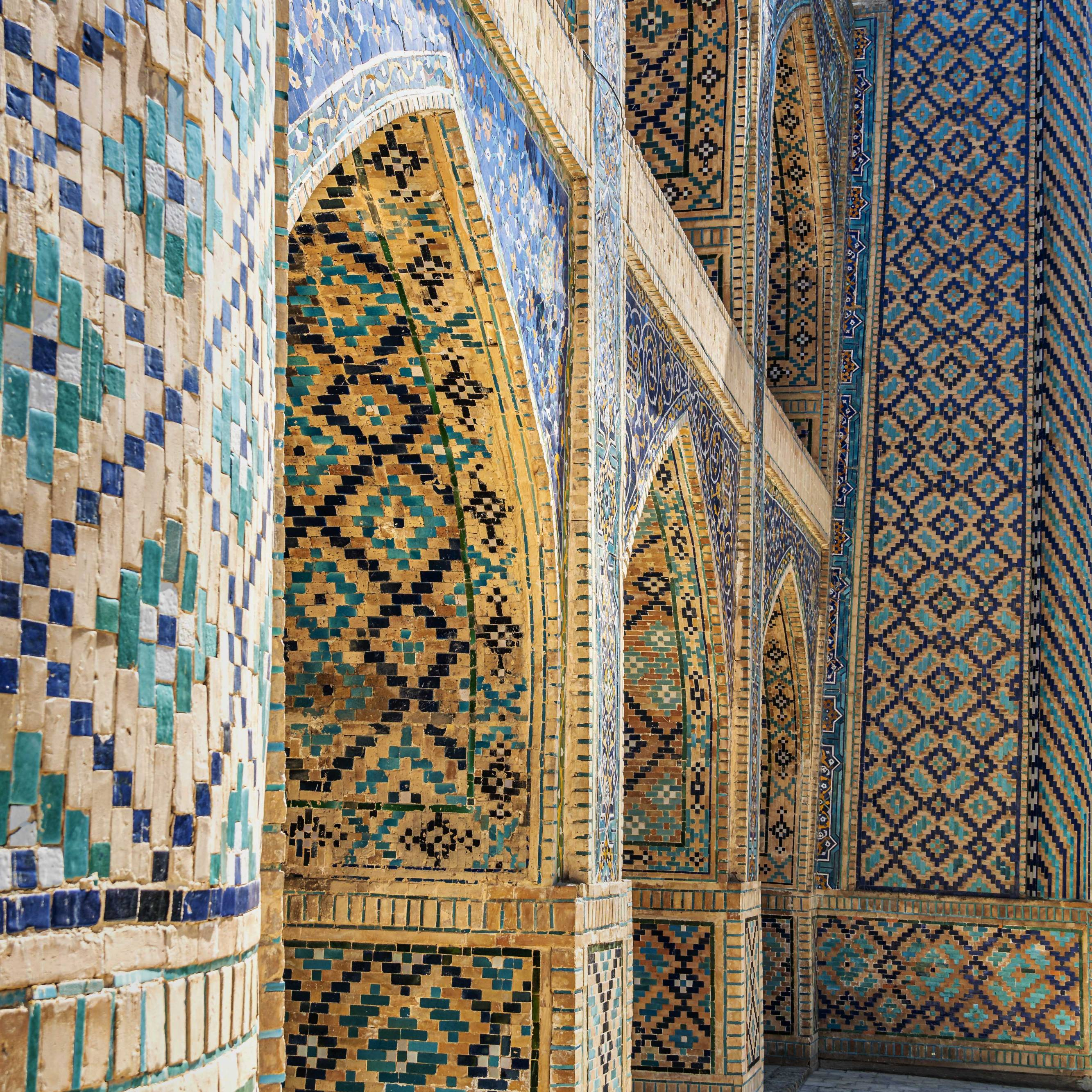 Typical uzbek patterns and colours