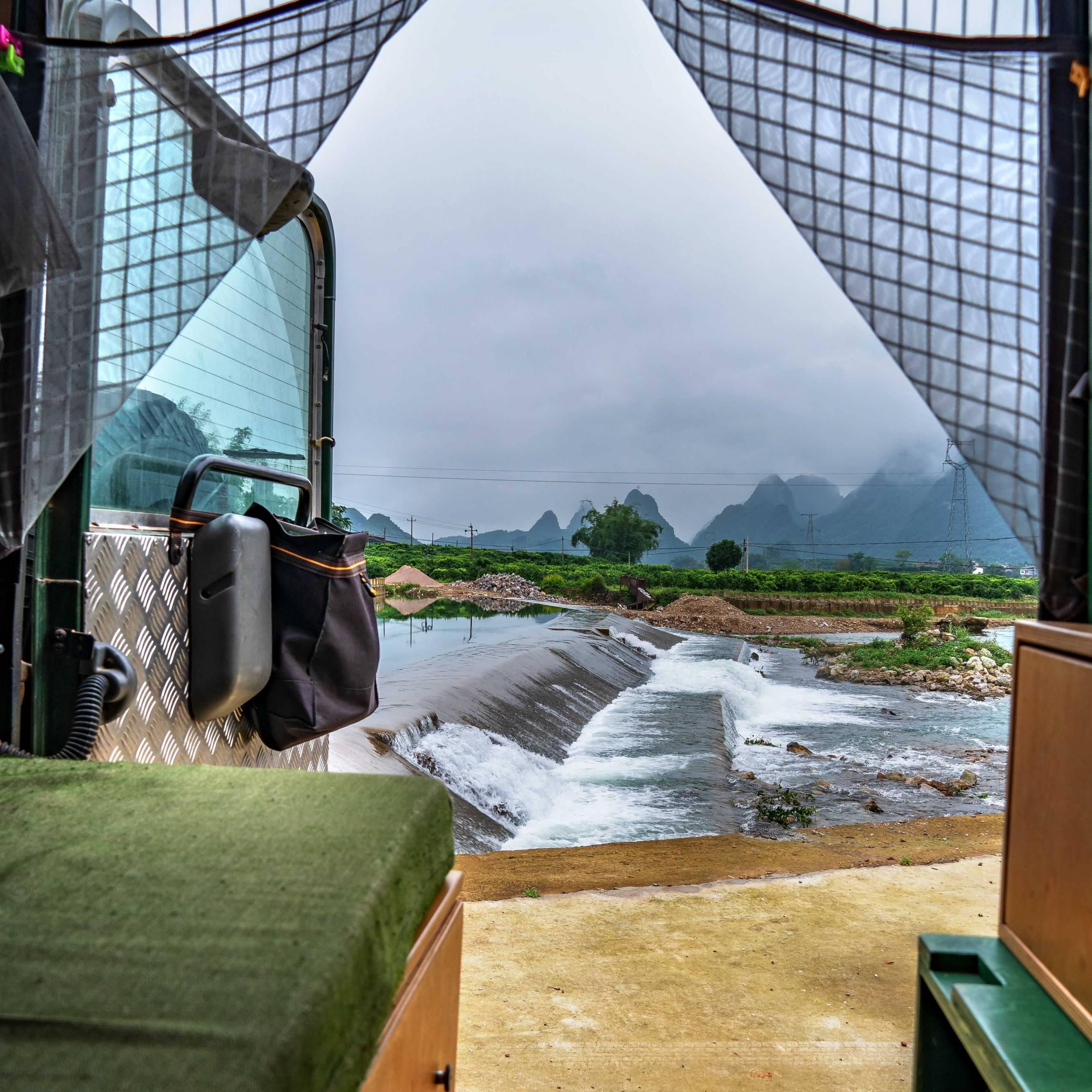 Defender Camping View close to Xingping