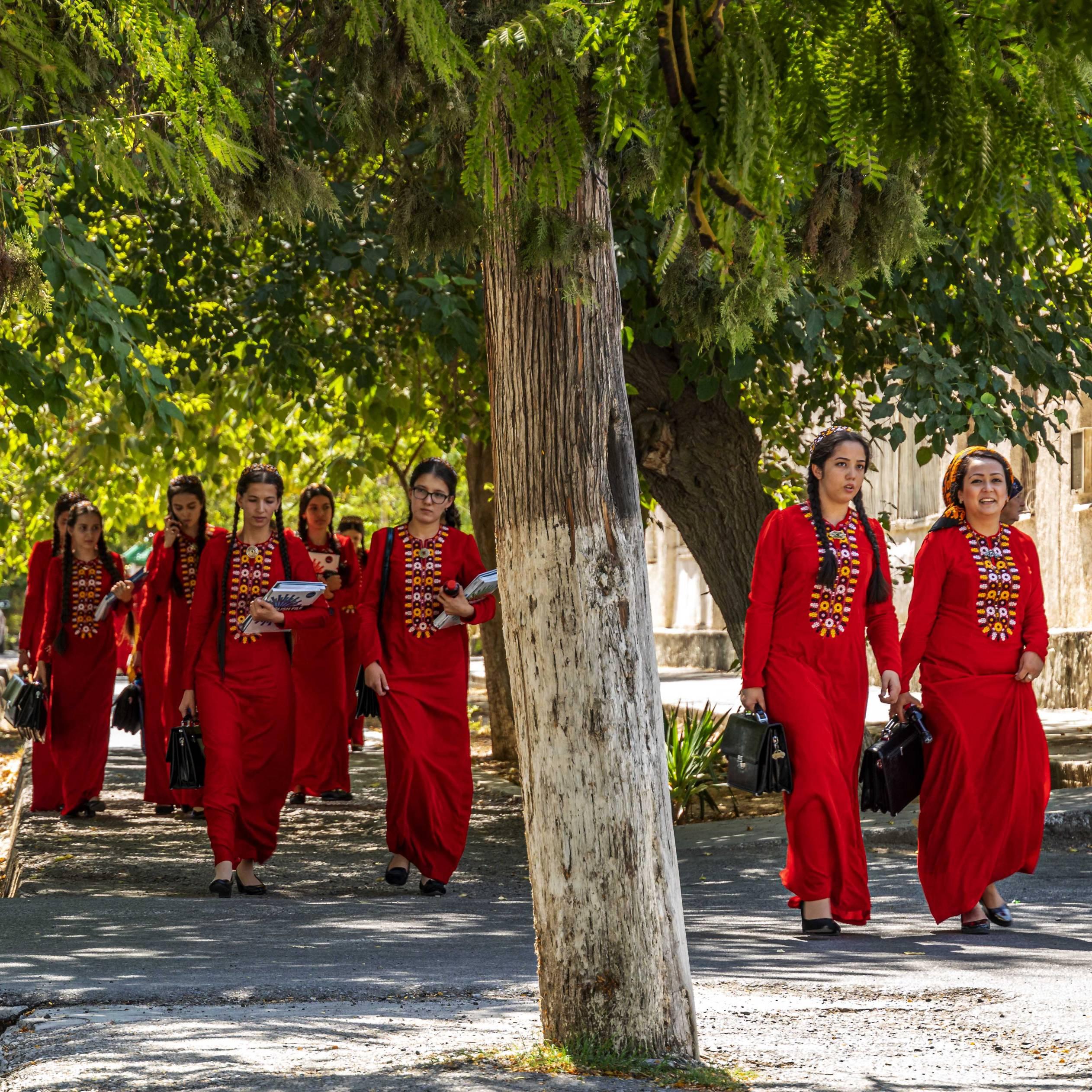 Students at Ashgabat