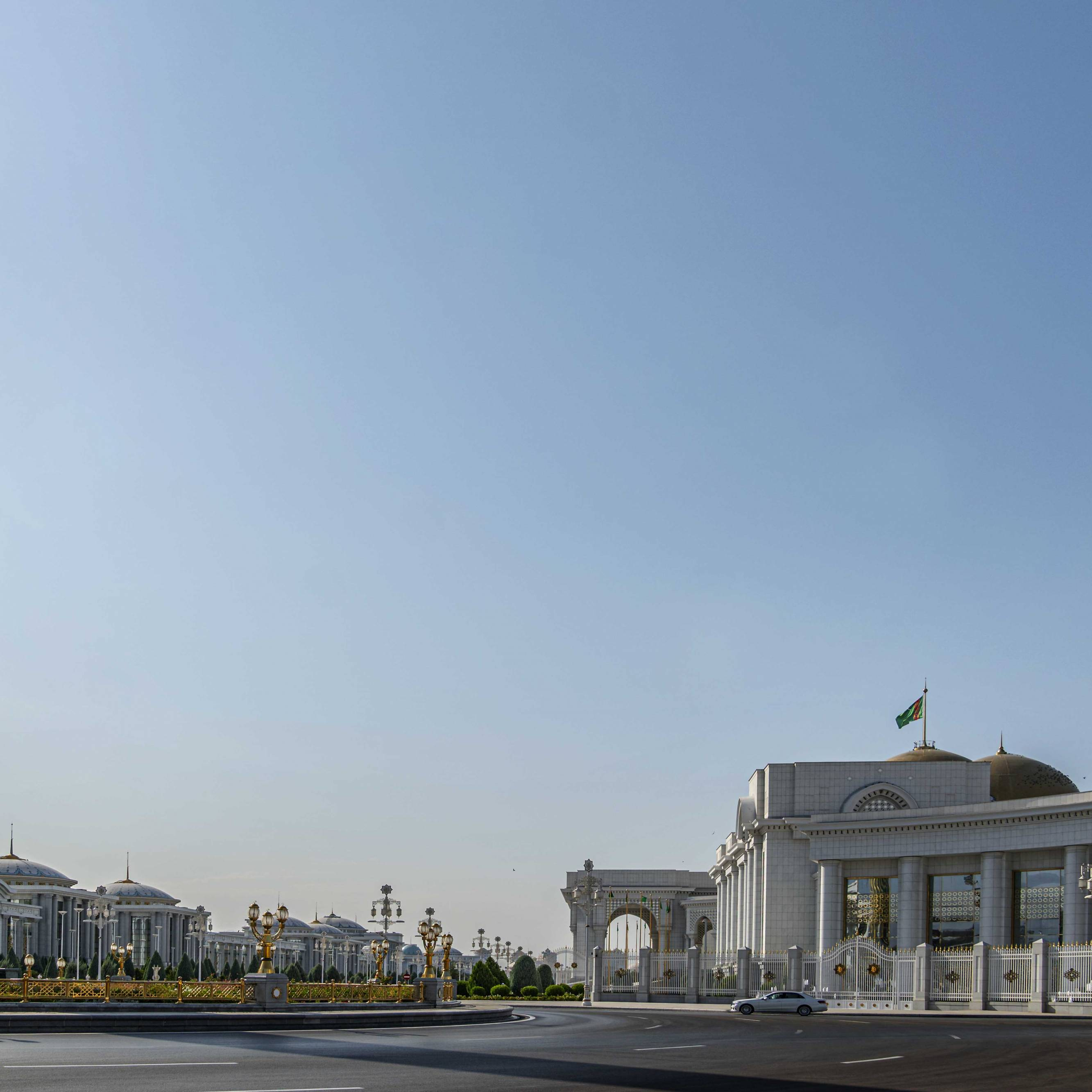 Government district at Ashgabat