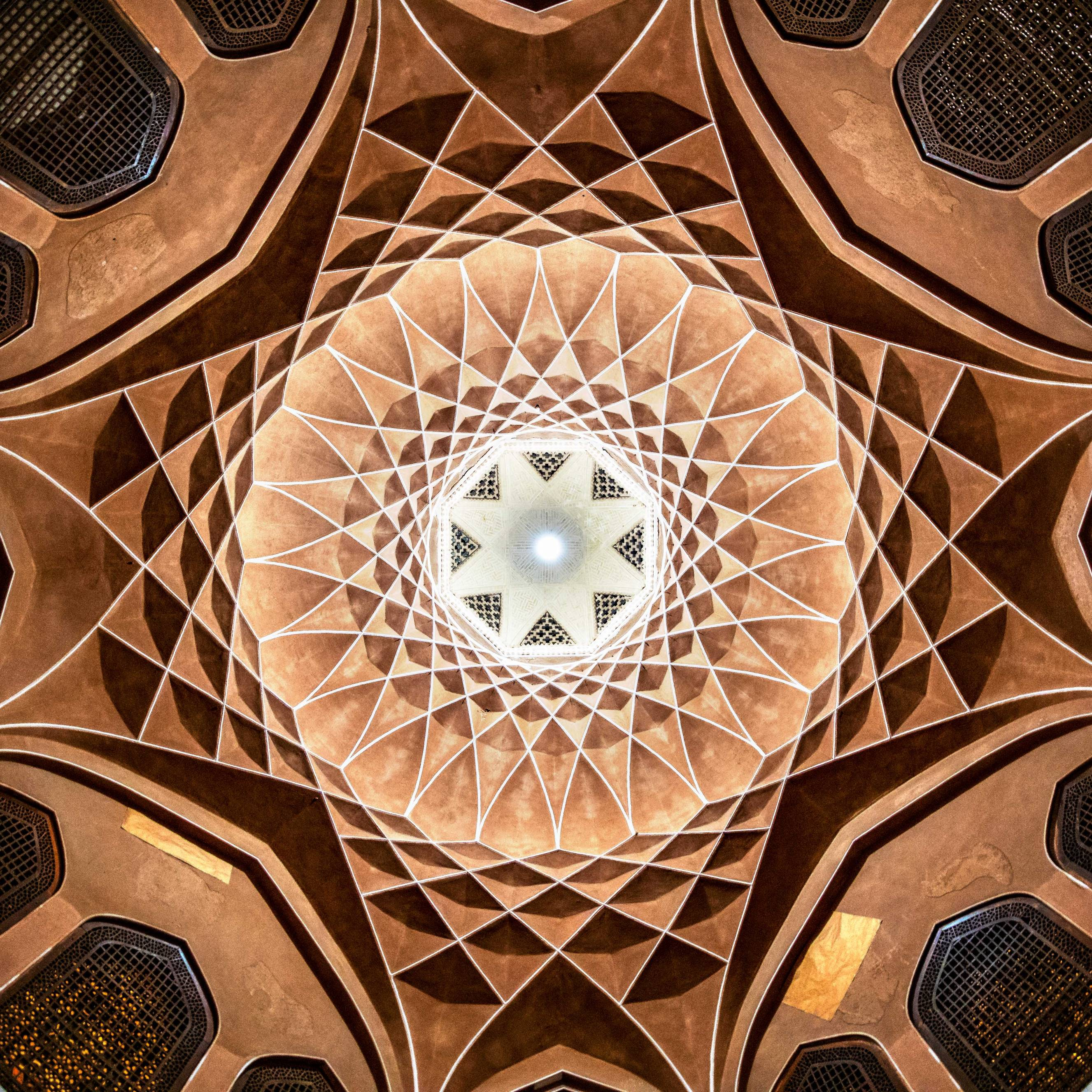 Ceiling at the palace of Dowlat Abad Garden